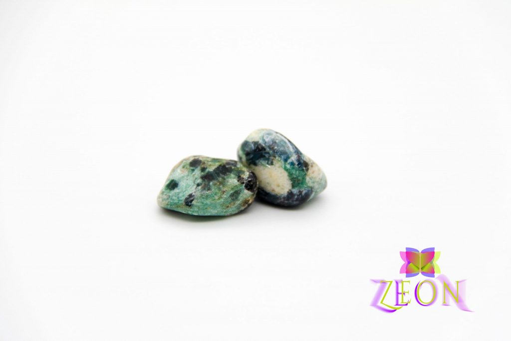 Trinity Stones – Kyanite – Brown Garnet – Fuchsite